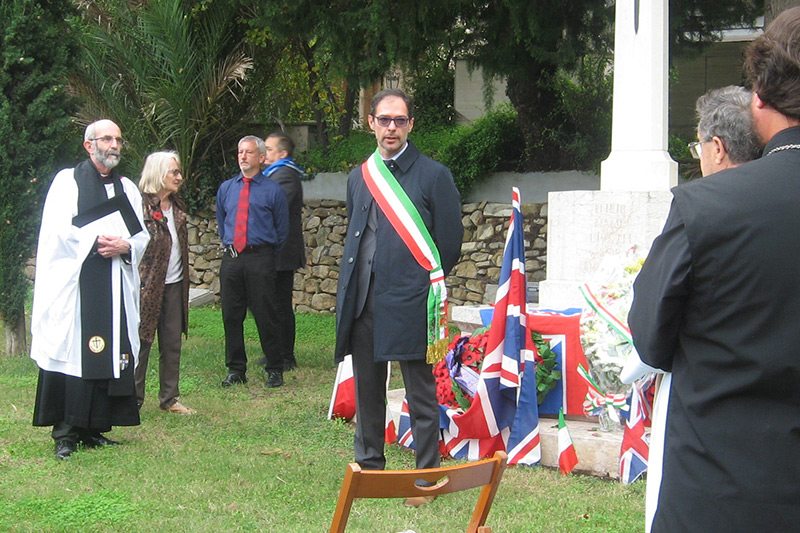 Bordighera, Northern Italy remembers